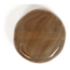 Glass Pressed Beads 8mm Flat Round Nut Brown